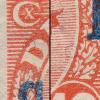 2[A,2b]: Farveplet øverst i [D]ANMARK. Nummer 2 i A-arket i en del af oplaget.