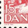 Dobbeltpræg i 1 og 5 samt A i DANMARK