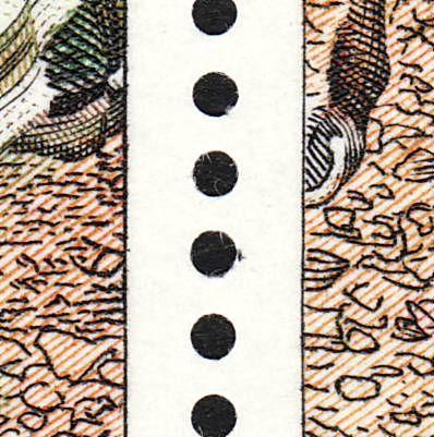 AFA 624, mærke fra ark med flue på muren udfor trompeten i pos. 1
