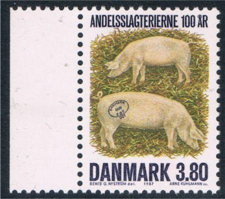 """Afa 886: Hvad for et af frimærkerne er det """"rigtige"""", det med mørk eller det med lys farvetegning?"""