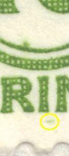 Afa 318: Grøn streg i margin under I og M i POSTFRIMÆRKE.