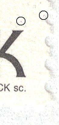 Afa 1128: 2 magenta pletter n. ø. for K