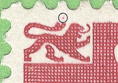 Afa 246: Rød plet over venstre løves halespids