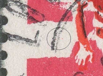 2 magenta pletter til v. for arm