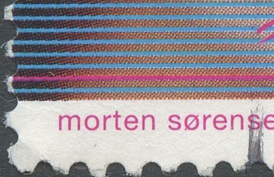 Magenta plet under Morten
