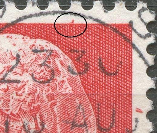 Rød plet i øvre mærkekant