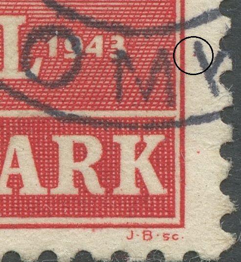 Farveplet ud for 1943