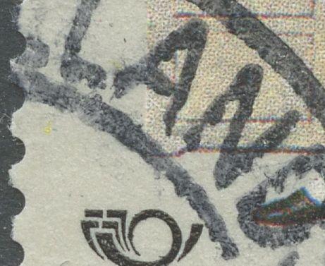 Cyan og gul plet i v. side