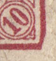 AFA 35B 10 Øre rød i nuancer