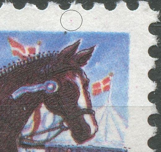Magenta plet over hestens hoved