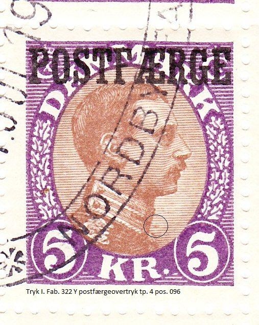 Pos. 96 også med postfærgeovertrykket