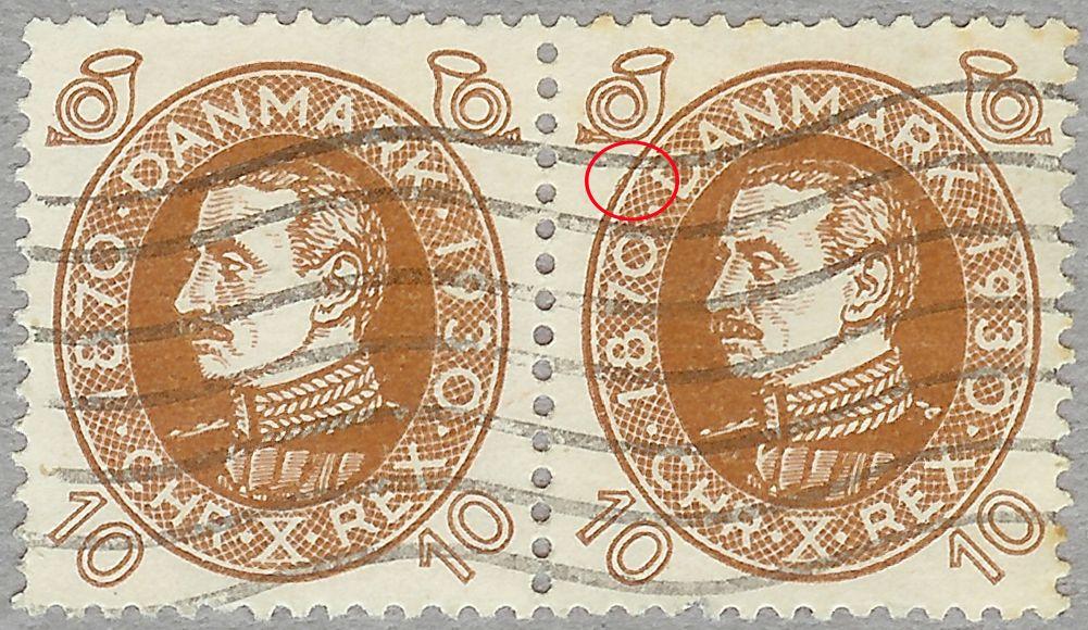 Nr. 189 Chr. X 10 øre brun