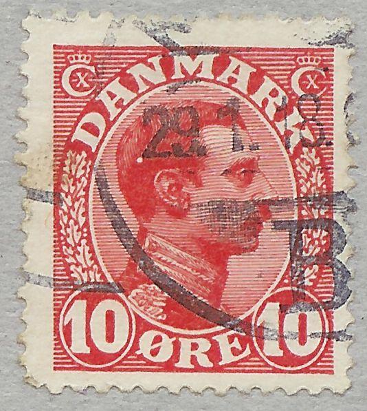 Afa 69 Chr. X 10 øre Rød