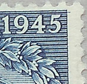 Afa 292. 40 øre Blå Chr. X. 75 års fødselsdag.