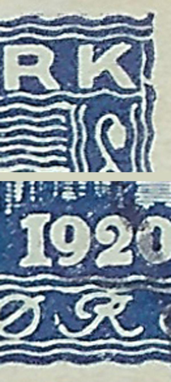 nr. 116 genforening 40 øre blå
