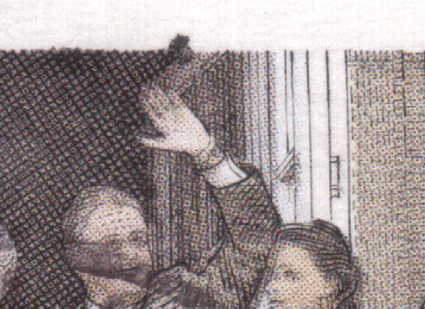 Brun plet over hånd