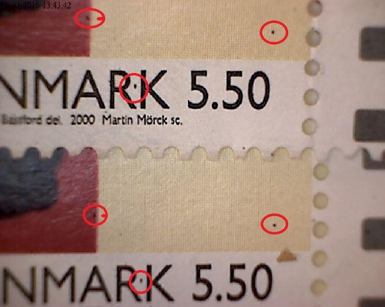 3 sorte plet i og om Danmark mærke nr. 2 og 3.