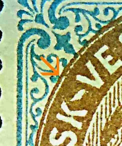 Dansk Vestindien Afa 21, pos.93, OF.64, O.7, ramme 31.103