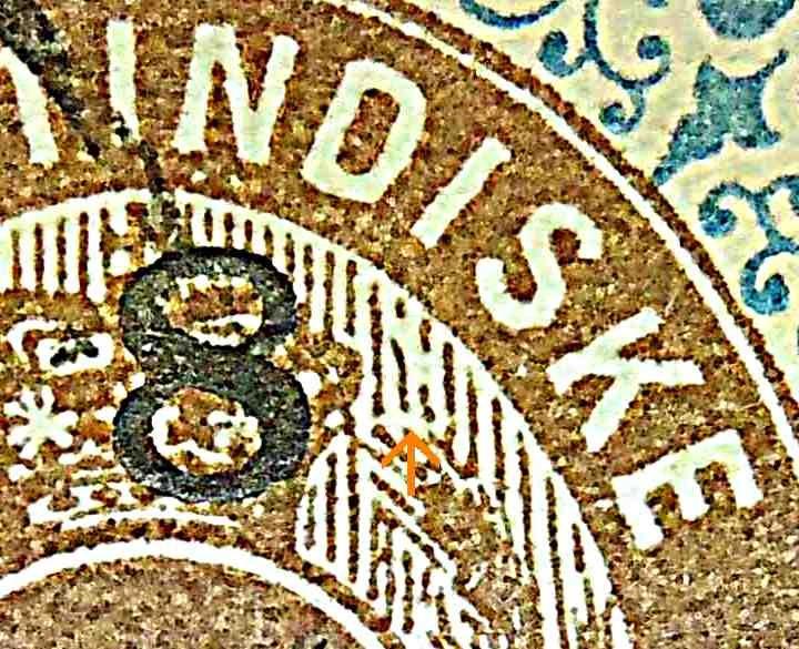 Dansk Vestindien Afa 21, pos.63, OF.37, OM.2, ramme 31.63 med hovedgruppe 5B