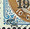 Dansk Vestindien Afa 21, pos.30, OF.55, OM.1a, ramme 31.30