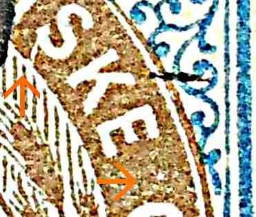Dansk Vestindien Afa 21, pos,35, OF.33, ramme 31.35