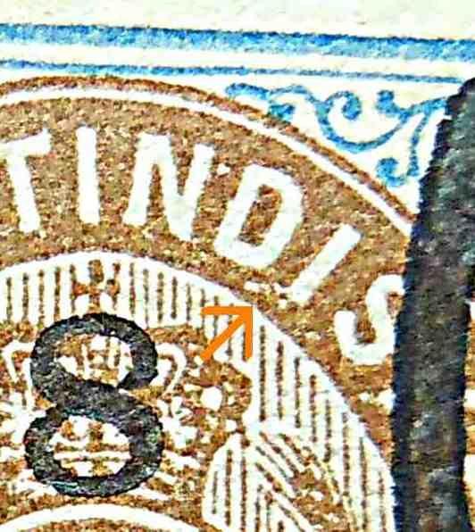 Dansk Vestindien Afa 21, pos.33, OF.13, OM.6, ramme 31.33 og hovedgruppe 5D'1