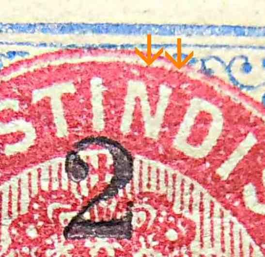 Dansk Vestindien Afa 18By pos.75, OF,23, ramme 31.26 og hovedgruppe 5D'1