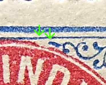 Dansk Vestindien  Afa 20y pos 12, OF.66, ramme 31.89 med hg5B