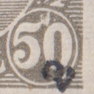 "AFA 129a 50 øre grå Pos 47 ""Flagermusen"""